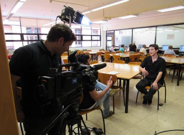 Enregistrament de l'entrevista a Magí Calzada (CAM)