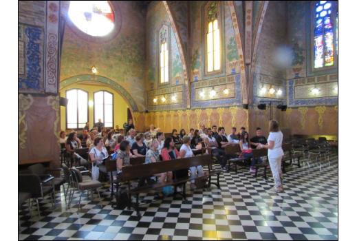 Trobada dels estudiants del CEPA Sierra Norte de Torrelaguna i del CFA Palau de Mar a la Capilla de la residència d'estudiants Ramon Llull