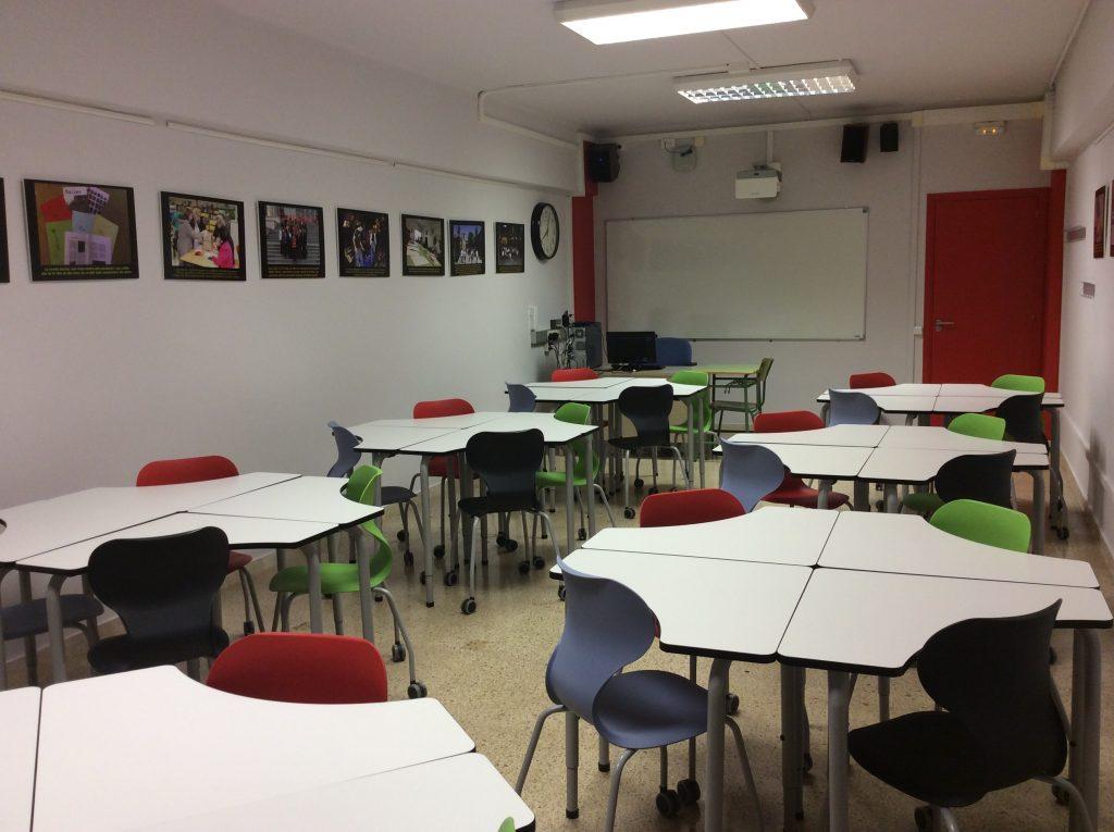Imatge d'un aula del CFA Palau de Mar