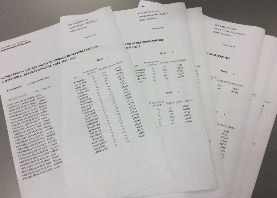 Imatge de la llista provisional